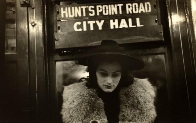 Walker Evans. 'Subway Passenger, New York' 1938