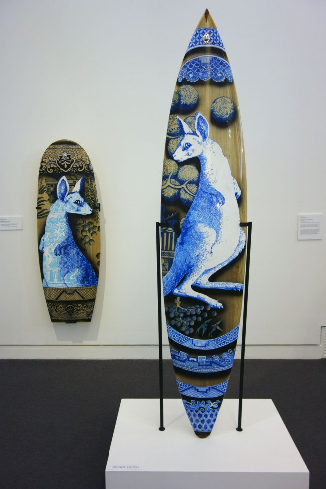 Stephen Bowers (b. 1952) Peter Walker (board maker) (b. 1961) 'Antipodean willow surfboard' 2012 'Antipodean willow surfboard (Mini Simmons)' 2012