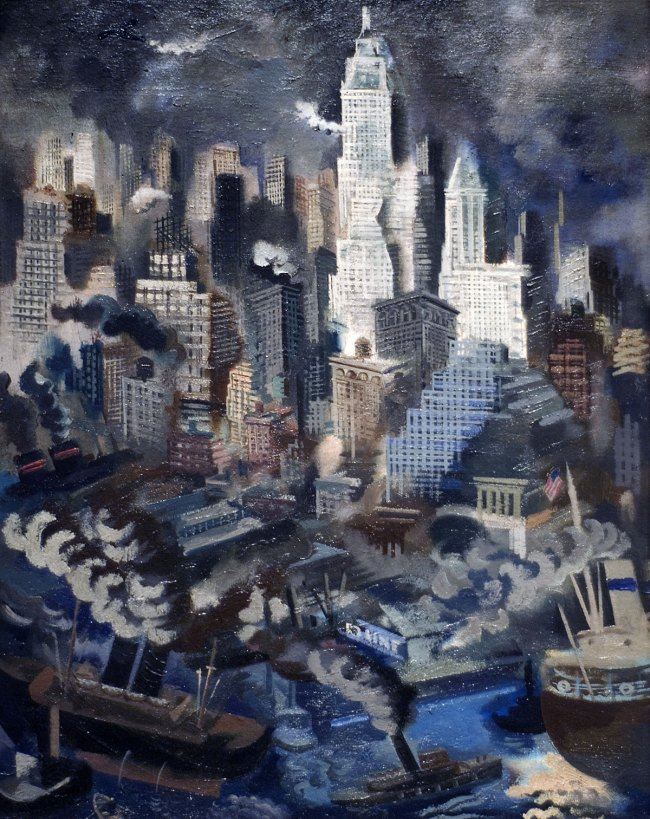 George Grosz. 'Lower Manhattan' c. 1934