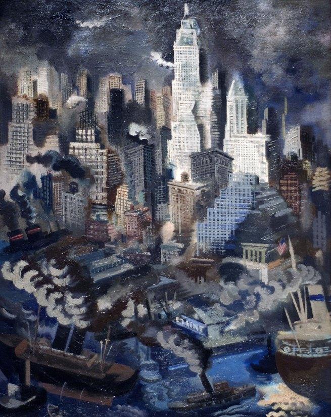 George Grosz. 'Lower Manhattan' c. 1934