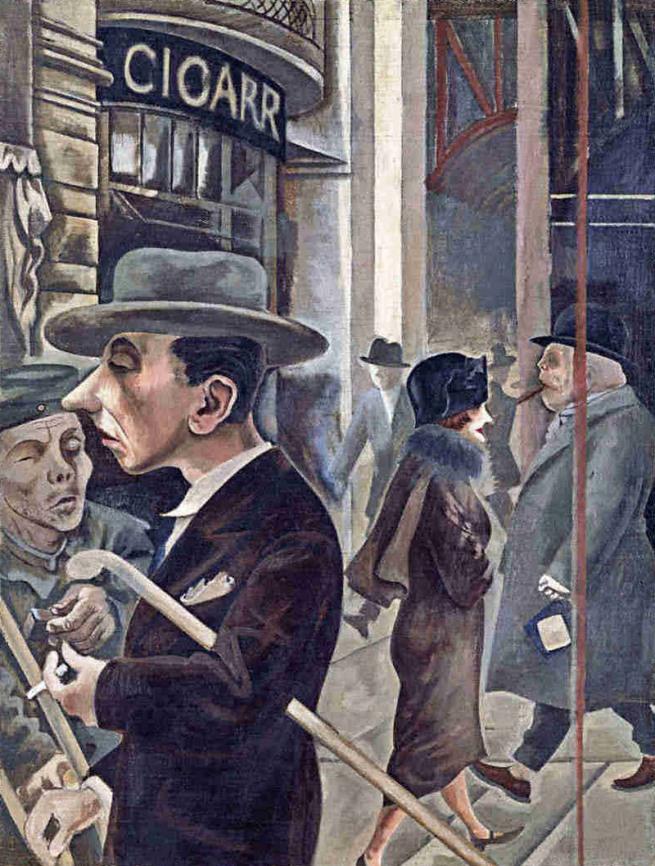 George Grosz. 'Street Scene' 1925