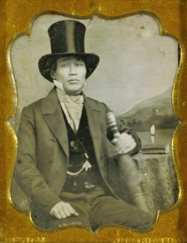 James P. Weston (American, active South America about 1849 and New York 1851-1852 and 1855 -1857) '[Portrait of an Asian Man in Top Hat]' c. 1856