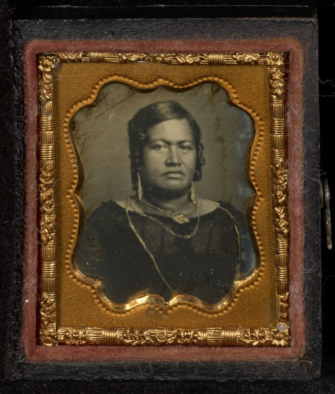 Attributed to Dr. Hugo Stangenwald (Austrian, born Germany, 1829-1899) 'Portrait of Queen Kalama of Hawaii' c. 1853-1854