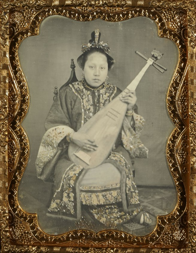 Unknown maker (American) '[Chinese Woman with a Mandolin]' 1860
