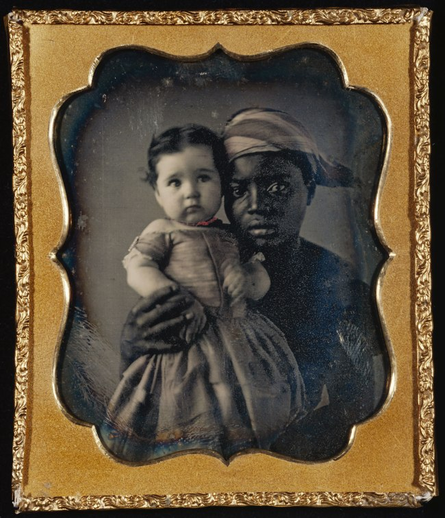 Unknown maker (American) 'Portrait of a Nurse and a Child' c. 1850