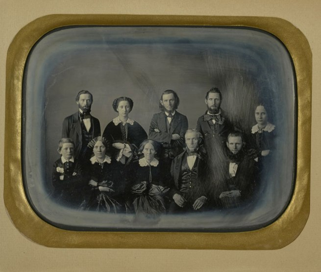 Unknown maker (American) 'Portrait of a Family' c. 1850 (detail)