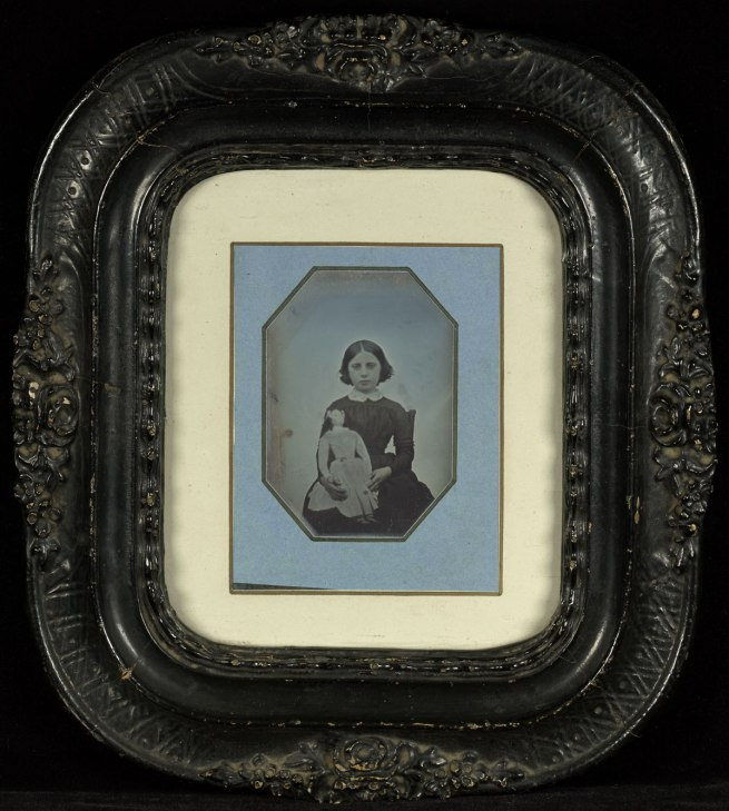Unknown maker (American) 'Portrait of a Girl Holding a Doll' c. 1845