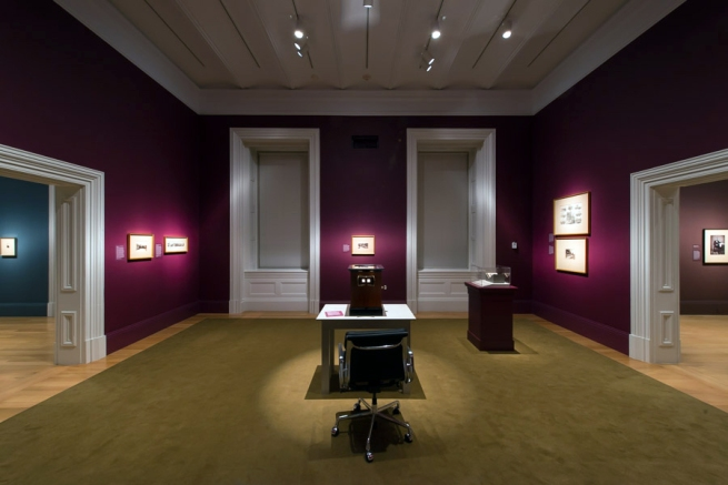 Installation view of the exhibition 'Dark Fields of the Republic: Alexander Gardner Photographs, 1859-1872' at the National Portrait Gallery, Washington