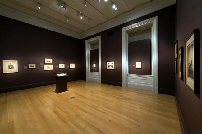 Installation view of the exhibition 'Dark Fields of the Republic: Alexander Gardner Photographs, 1859-1872' at the National Portrait Gallery, Washington