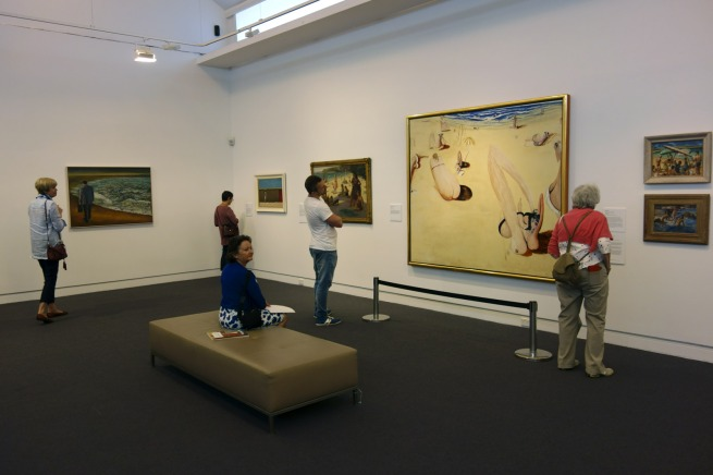 Installation view of the exhibition 'On the beach' at the Mornington Peninsula Regional Art Gallery