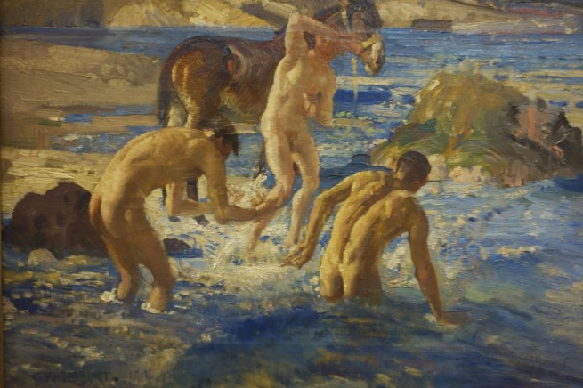 George W. Lambert. 'Anzacs bathing in the sea' 1915 (detail)