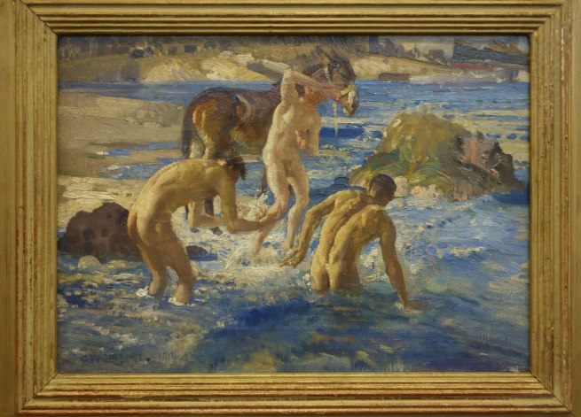 George W. Lambert. 'Anzacs bathing in the sea' 1915