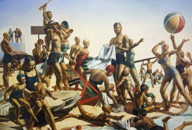 Charles Meere (1890-1961) 'Australian beach pattern' 1940 (detail)
