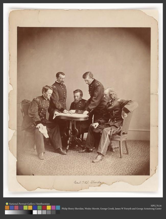 Alexander Gardner (1821-1882) 'General Sheridan and His Staff' c. 1865