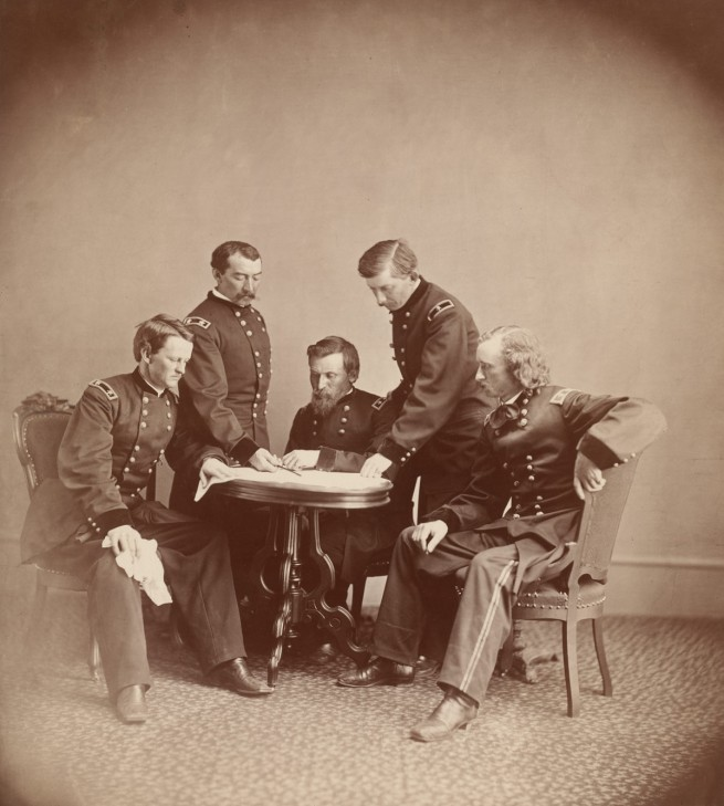 Alexander Gardner (1821-1882) 'General Sheridan and His Staff' c. 1865