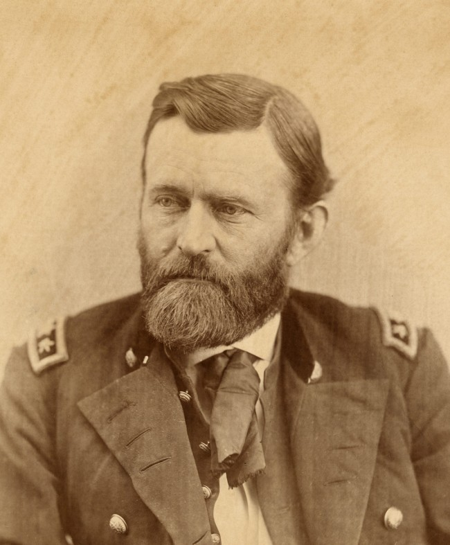 Alexander Gardner (1821-1882) 'Ulysses S. Grant' (1822-1885) c. 1864 (detail)