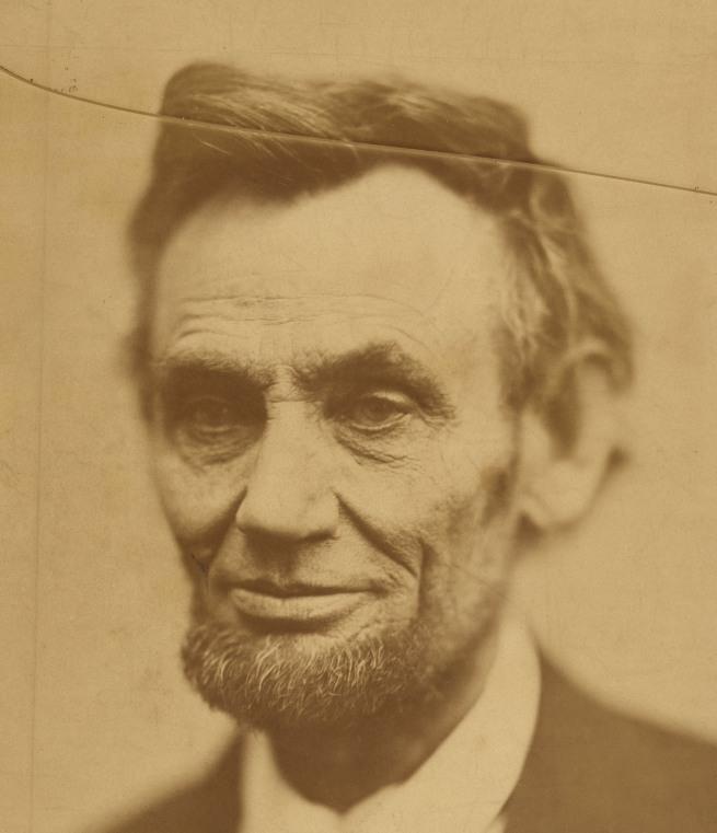 Alexander Gardner (1821-1882) 'Abraham Lincoln' 1865 (detail)