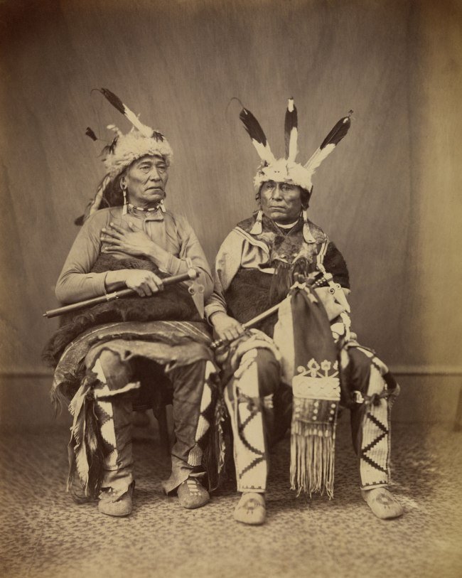 Alexander Gardner (1821-1882) 'Ihanktonwan Nakota delegates Long Foot and Little Bird, Washington, D.C.' 1867