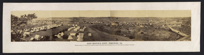 Alexander Gardner (1821-1882) 'Panorama of Camp Winfield Scott, Yorktown, Virginia' 1863