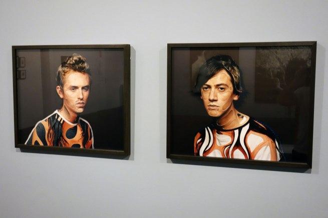 Installation view of David ROSETZKY. 'Aaron I' 2004 'Hamish' 2004