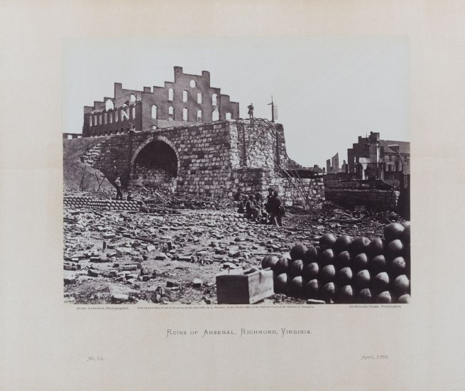 Alexander Gardner (1821-1882) 'Ruins of the Arsenal, Richmond, Virginia, April 1863 '1865