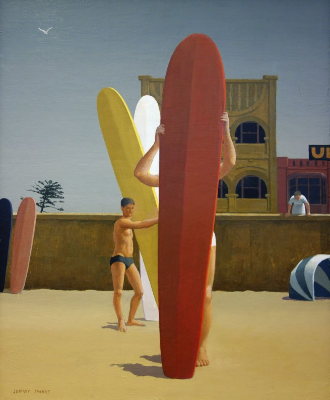 Jeffrey Smart (1921-2013) 'Surfers Bondi' 1963
