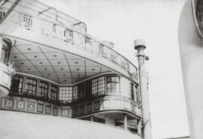 "George Grosz. 'Die Brücke der ""New York"" / The bridge of the ""New York""' New York, 1932"