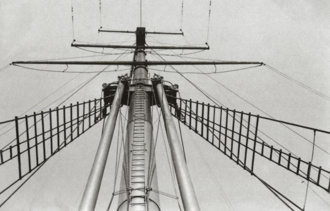 """George Grosz. 'Sendemast und Takelage der """"New York"""" / Transmitter and rigging of the """"New York""""' New York, 1932"""