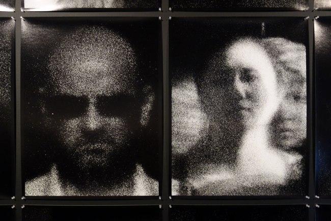 Trent Parke (born Australia 1971) 'The camera is god (street portrait series)' 2013 (detail)