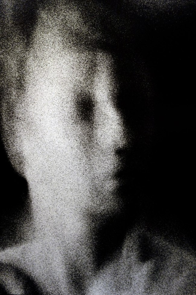 Trent Parke (born Australia 1971) 'The camera is god (street portrait series)' 2013 (detail)