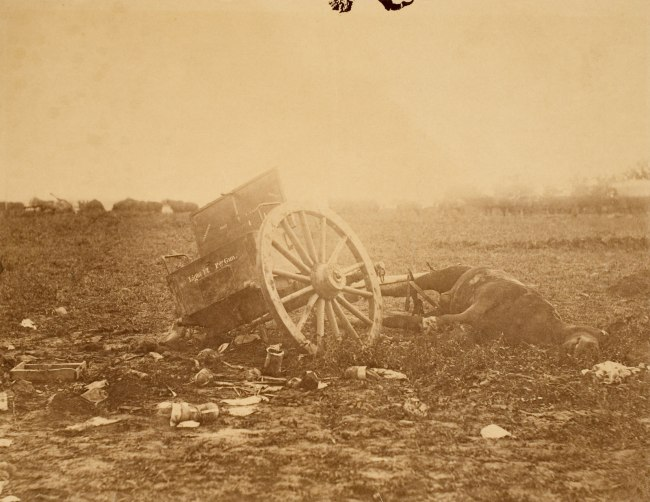 Alexander Gardner (1821-1882) 'Incidents of the War: Unfit for Service at the Battle of Gettysburg' July 1863