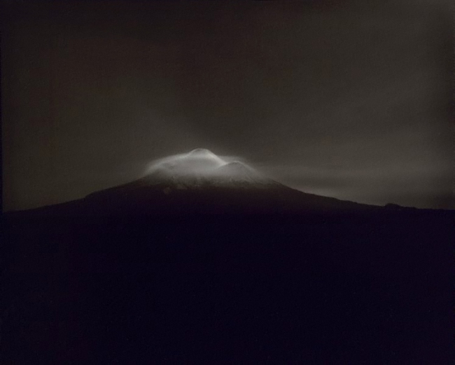 Laurence Aberhart (Aotearoa New Zealand born 1949) 'Taranaki, from Oeo Road, under moonlight, 27-28 September 1999' 1999