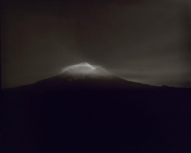 Laurence Aberhart (Aotearoa New Zealand born 1949) 'Taranaki, from Oeo Road, under moonlight, 27-28 September 1999' 1999