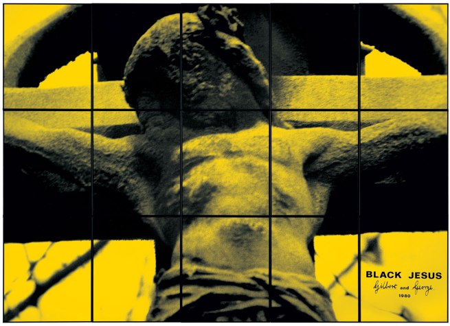 Gilbert & George. 'BLACK JESUS' 1980