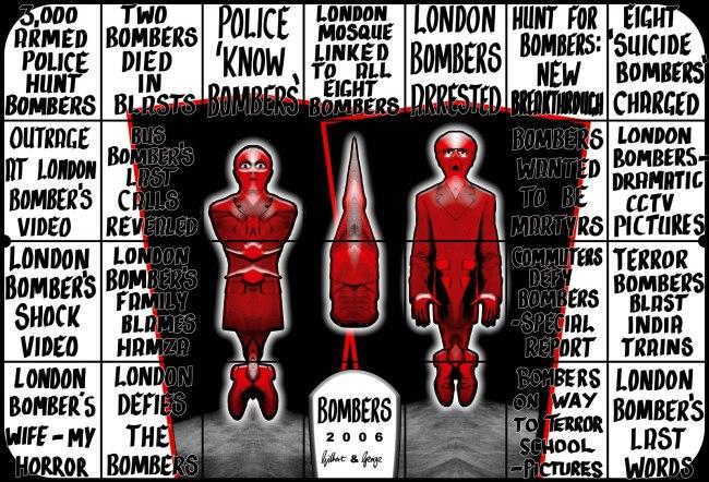 Gilbert & George. 'BOMBERS' 2006