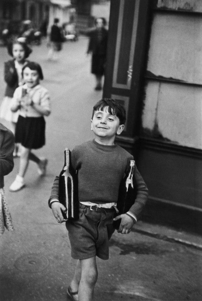 Henri Cartier-Bresson (France 1908 - 2004) 'Rue Mouffetard, Paris' 1954 prtd c. 1980