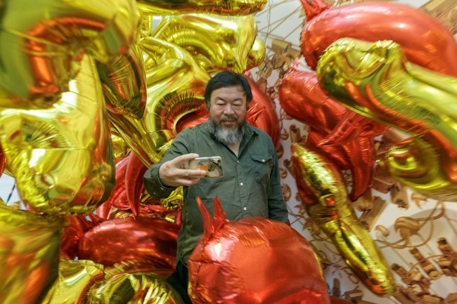 Ai Weiwei at National Gallery of Victoria exhibition 'Andy Warhol | Ai Weiwei'