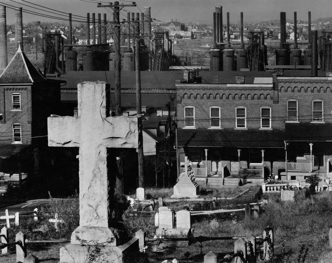 Walker Evans (United States of America 1903 - 1975) 'Graveyard and steel mill, Bethlehem, Pennsylvania' 1935