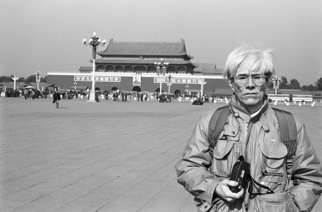 Christopher Makos. 'Andy Warhol in Tiananmen Square' 1982