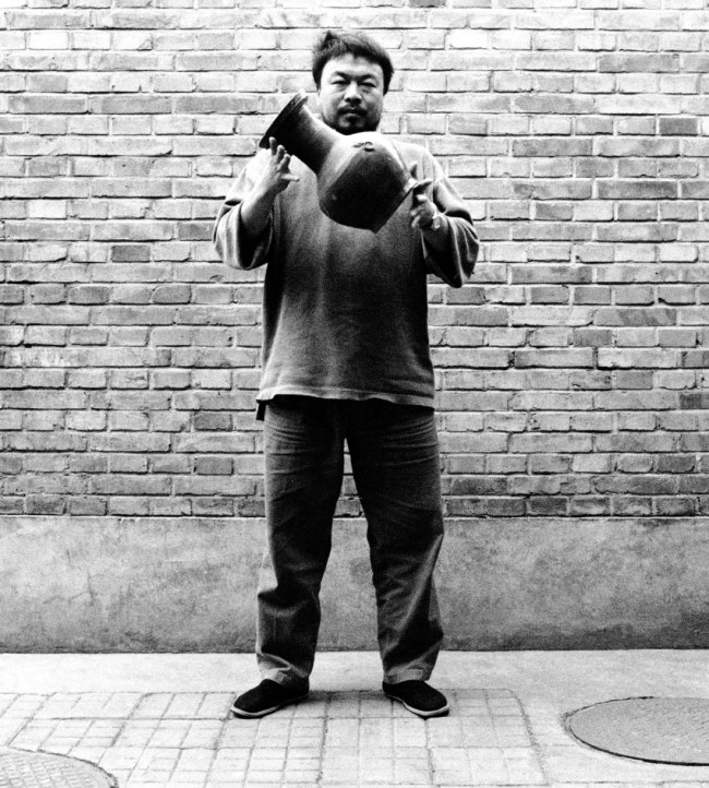 Ai Weiwei (Chinese 1957- ) 'Dropping a Han Dynasty Urn' (detail) 1995