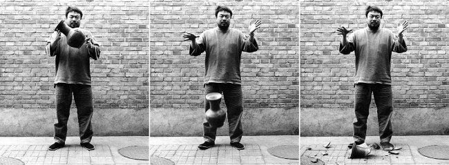 Ai Weiwei (Chinese 1957- ) 'Dropping a Han Dynasty Urn' 1995