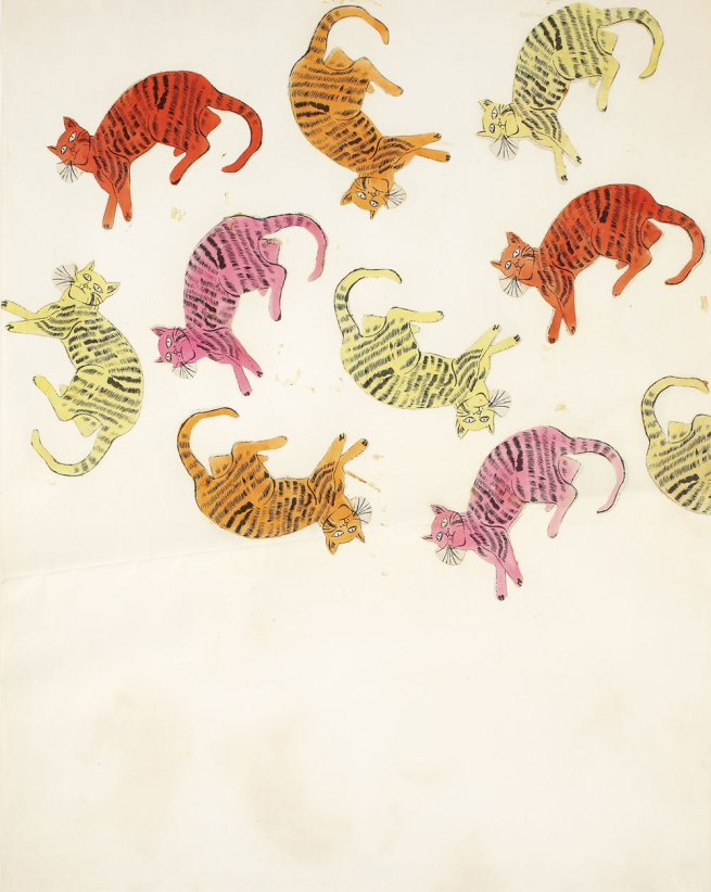 Andy Warhol (American 1928-87) 'Cat Collage' (from 25 Cats Name Sam and One Blue Pussy) c. 1954