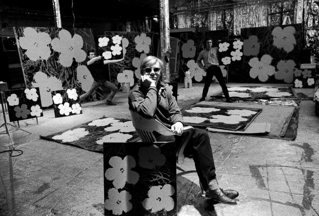Ugo Mulas. 'Andy Warhol, Gerard Malanga and Philip Fagan in New York' 1964