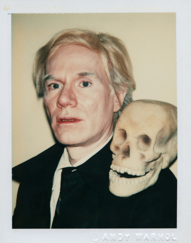 Andy Warhol (American 1928-87) 'Self-Portrait with Skull' 1977
