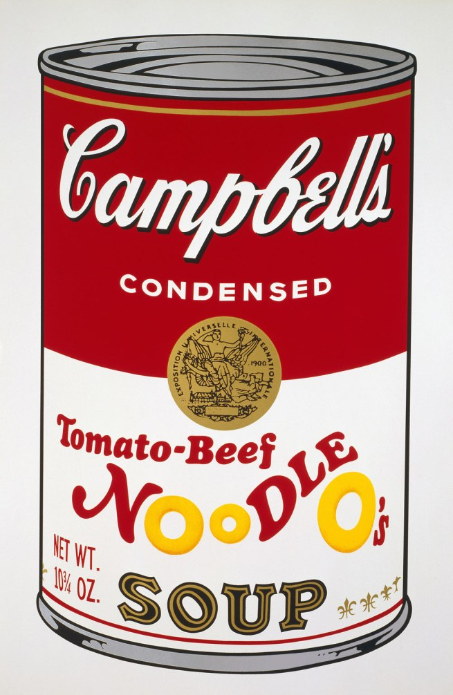 Andy Warhol (American 1928-87) 'Campbell's Soup II: Tomato-Beef Noodle O's' 1969
