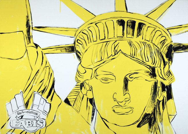 Andy Warhol (American 1928-87) 'Fabis Statue of Liberty' 1986