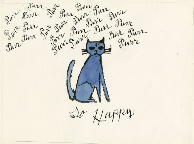 Andy Warhol (American 1928-87) Julia Warhola (American 1892-1972) 'So Happy' 1950s