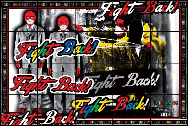 Gilbert & George. 'FIGHT BACK' 2014