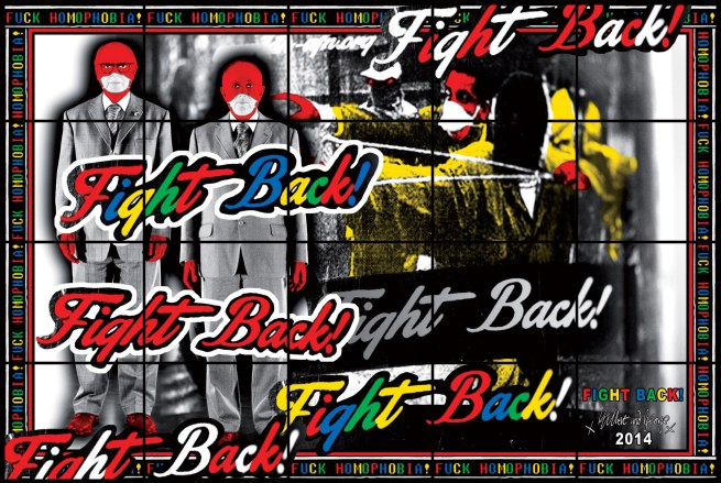 Gilbert & George. 'FIGHT BACK' 2014
