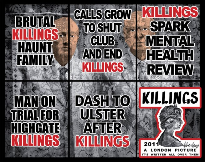 Gilbert & George. 'KILLERS STRAIGHT' 2011